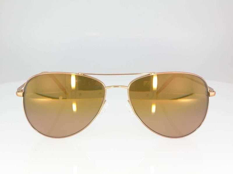 Oliver Peoples Kannon Rose Gold + Rose Quartz Mirror Glass