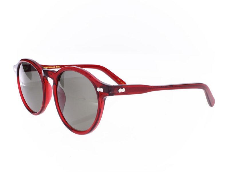 Moscot Miltzen Sun Ruby Red 49-22